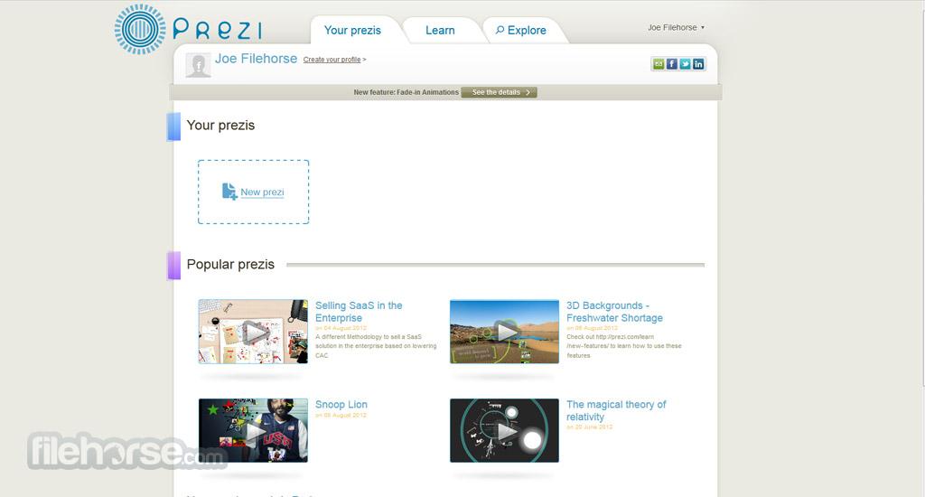 Prezi Screenshot 1