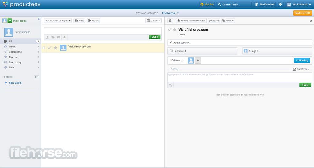 Producteev Screenshot 2