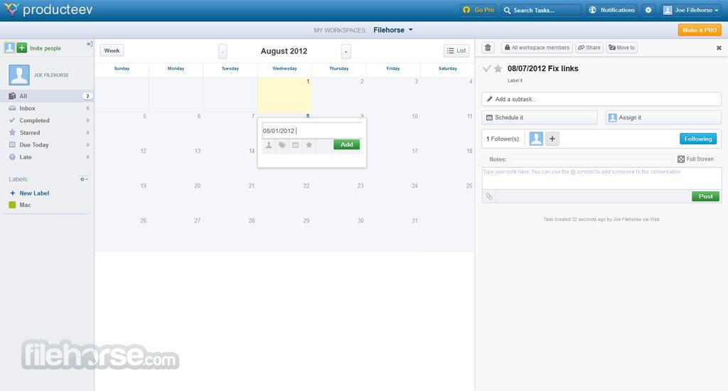 Producteev Screenshot 3
