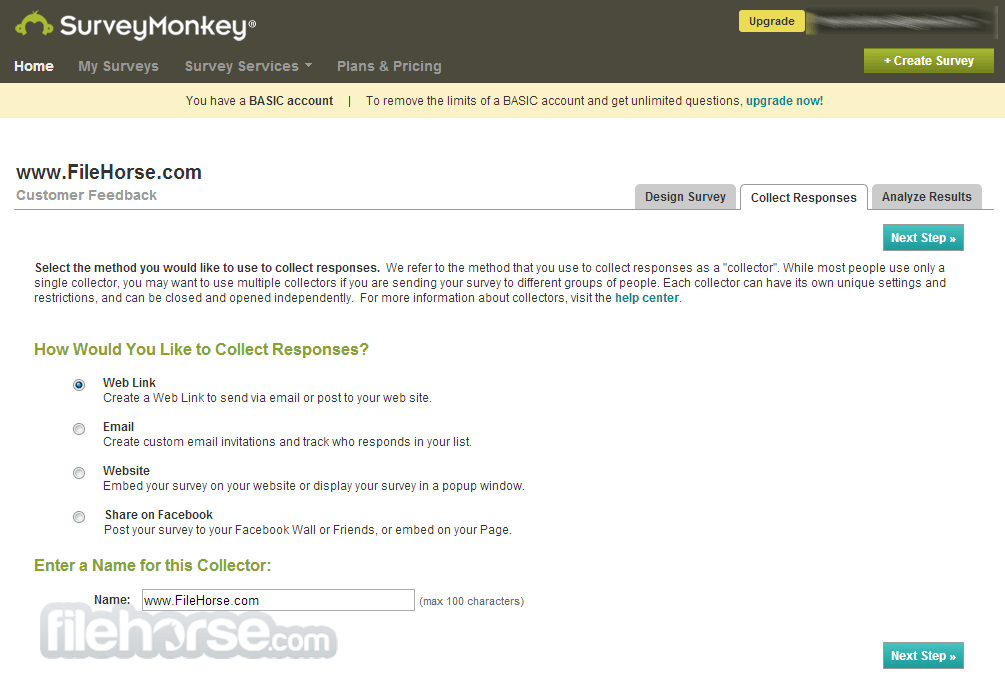 SurveyMonkey Screenshot 2