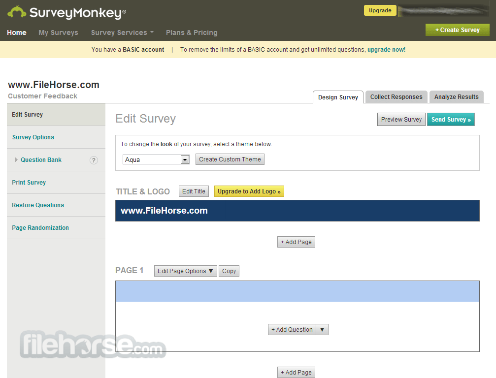 SurveyMonkey Screenshot 3