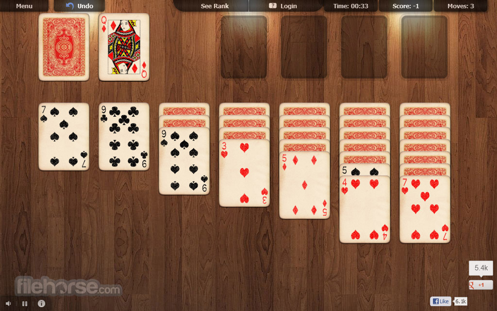 Online Solitaire Screenshot 1