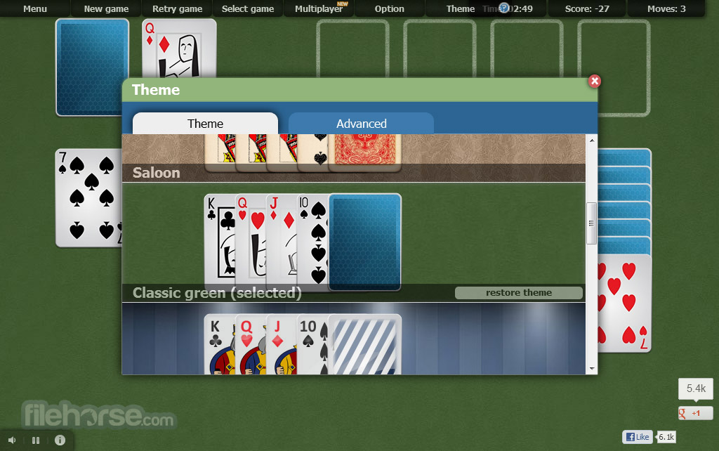 Online Solitaire Screenshot 5