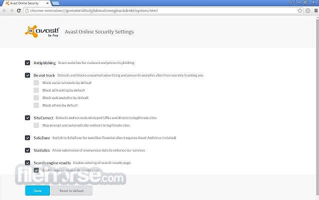 Avast Online Scanner Screenshot 2