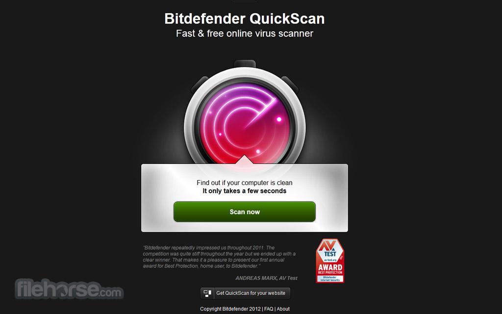 Bitdefender QuickScan Captura de Pantalla 1