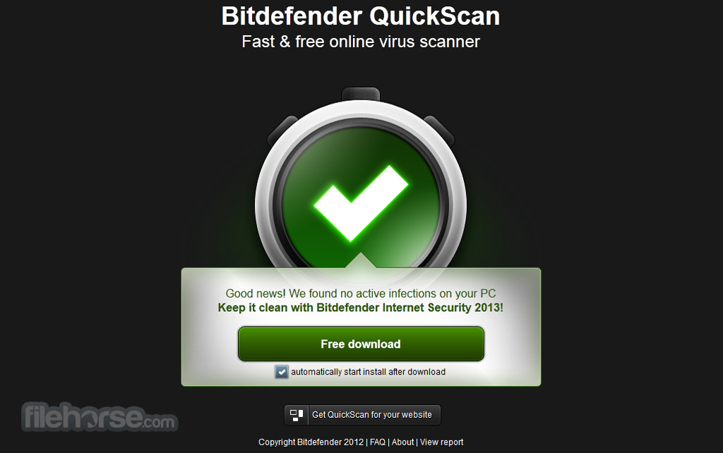Bitdefender QuickScan Captura de Pantalla 3