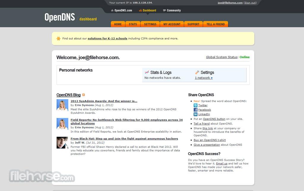 OpenDNS Captura de Pantalla 3