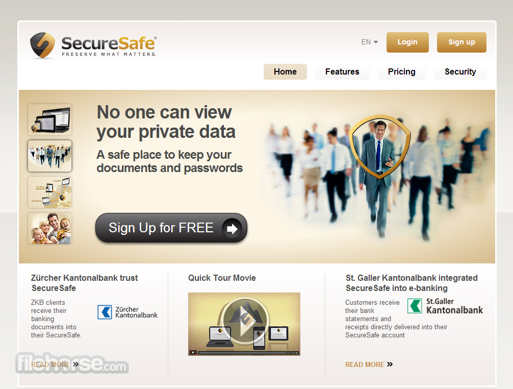 SecureSafe Captura de Pantalla 1