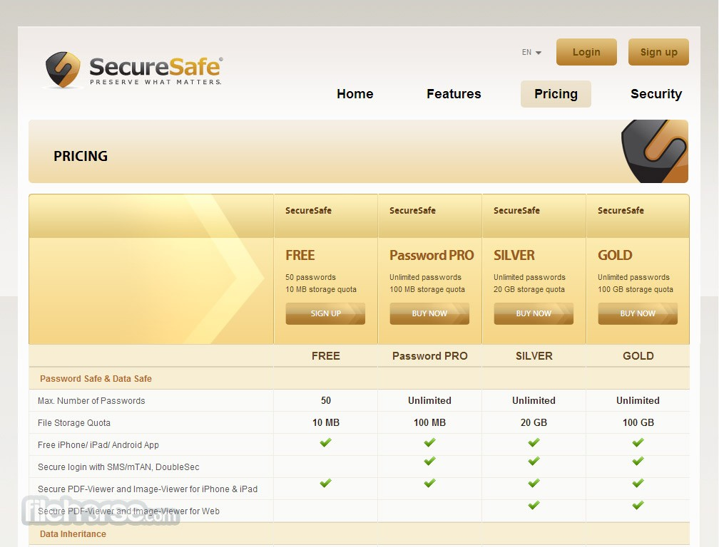 SecureSafe Screenshot 2