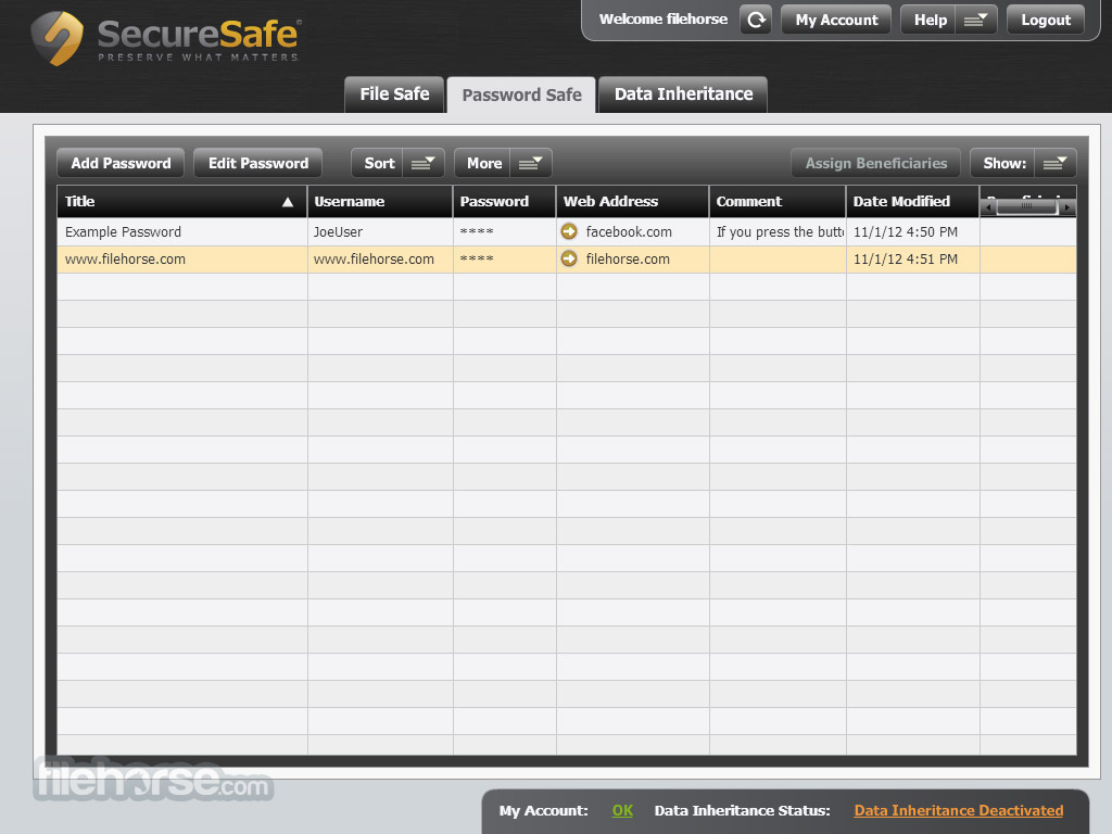 SecureSafe Screenshot 3