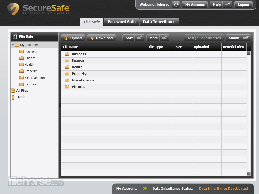 SecureSafe Captura de Pantalla 4