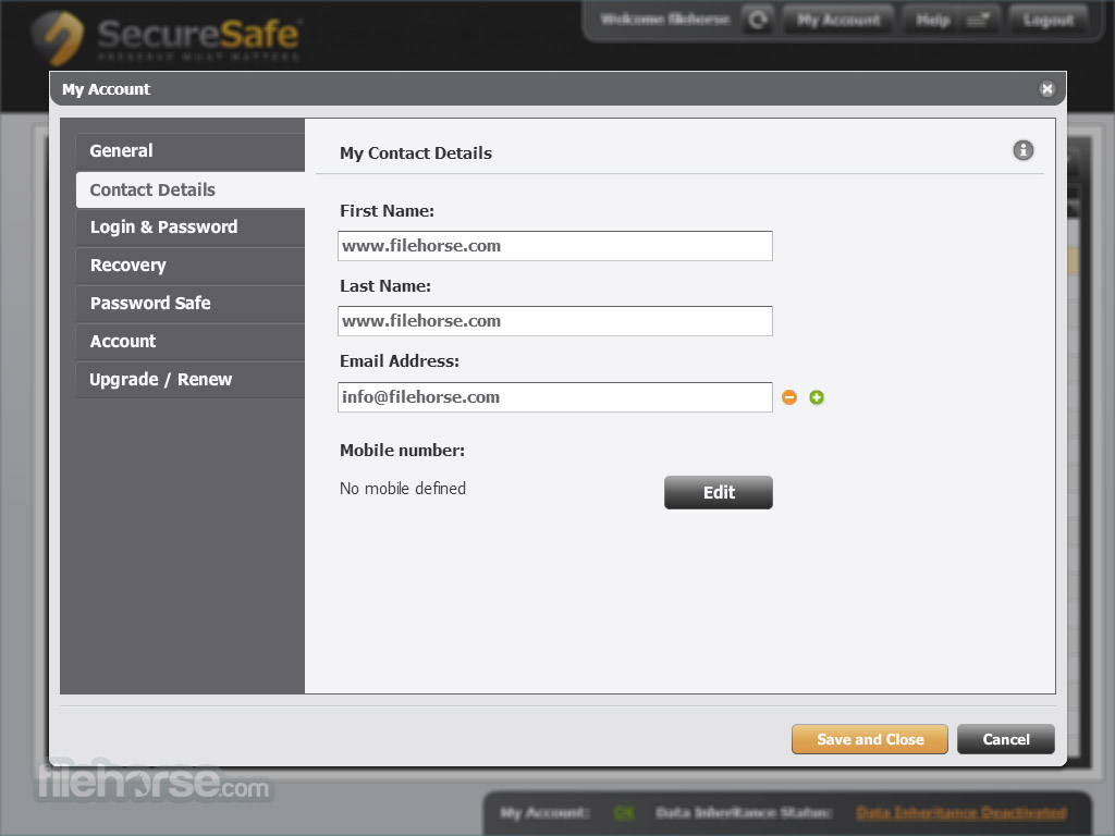 SecureSafe Captura de Pantalla 5