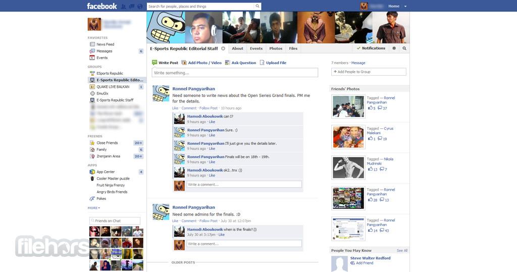 Facebook Captura de Pantalla 2