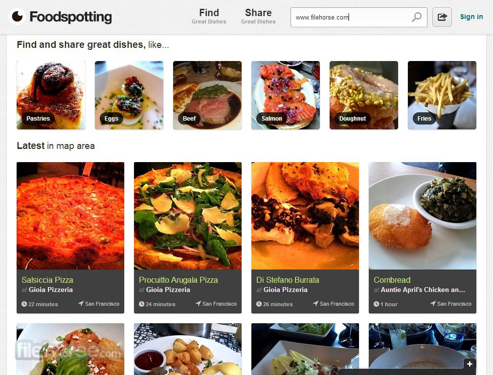 Foodspotting Captura de Pantalla 1