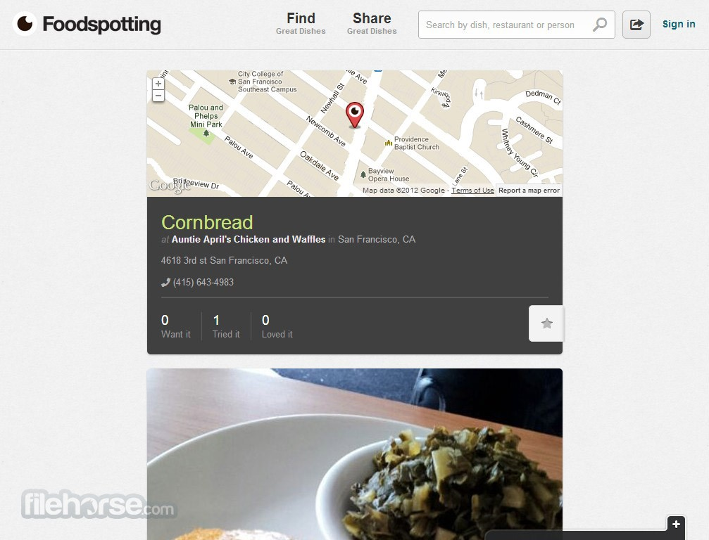 Foodspotting Captura de Pantalla 2