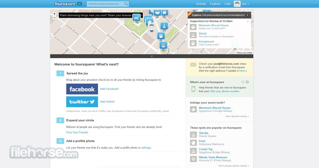 Foursquare Screenshot 2