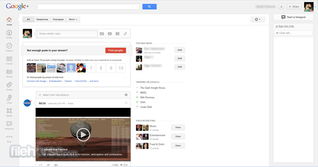 Google+ Screenshot 2