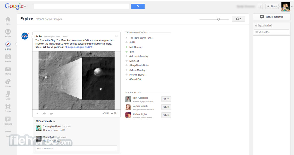 Google+ Screenshot 3