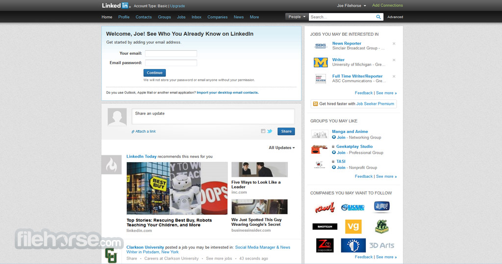 LinkedIn Screenshot 1