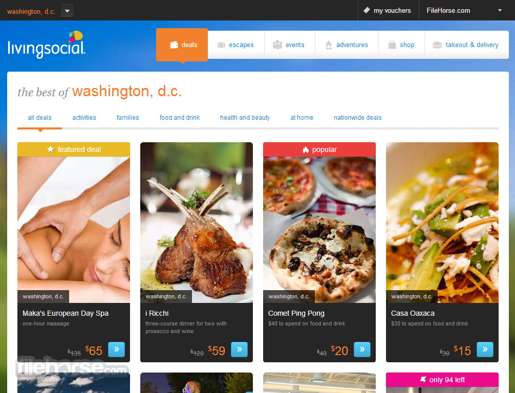 LivingSocial Screenshot 1