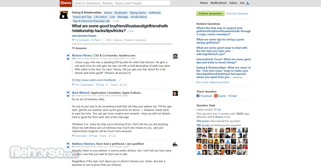 Quora Screenshot 3