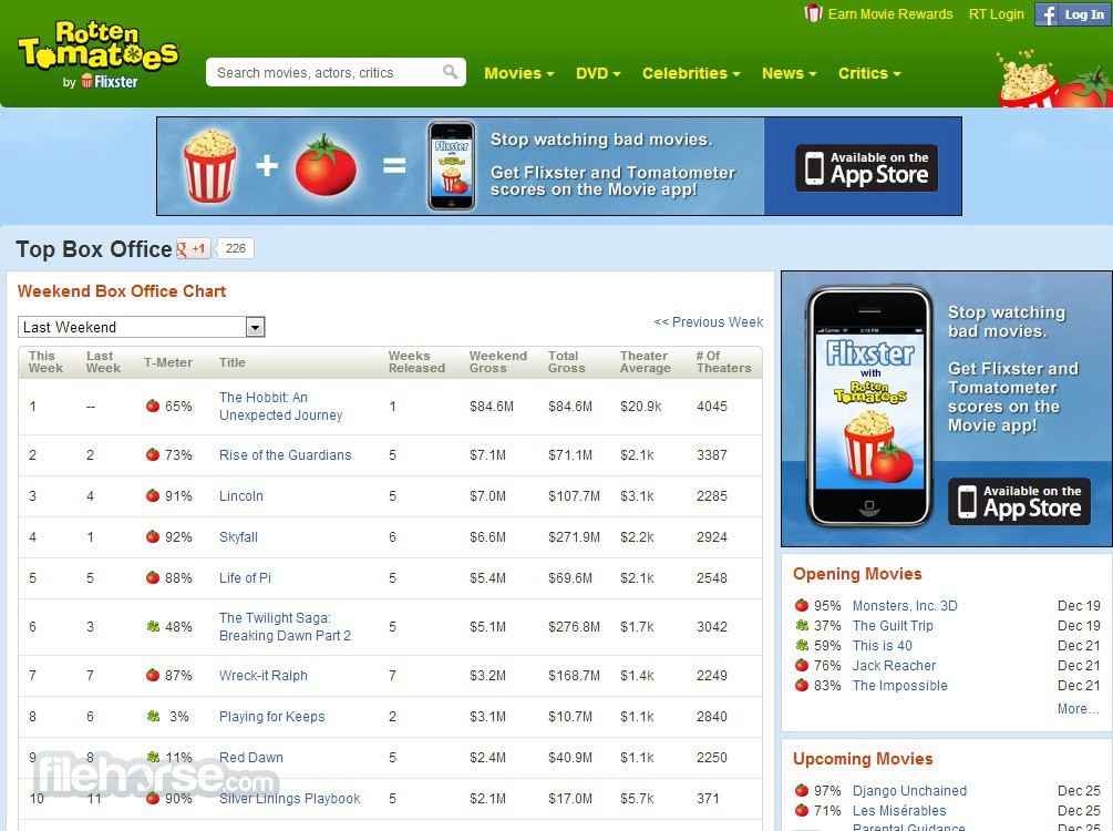 Rotten Tomatoes Screenshot 2