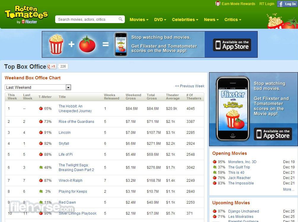 Rotten Tomatoes Screenshot 2