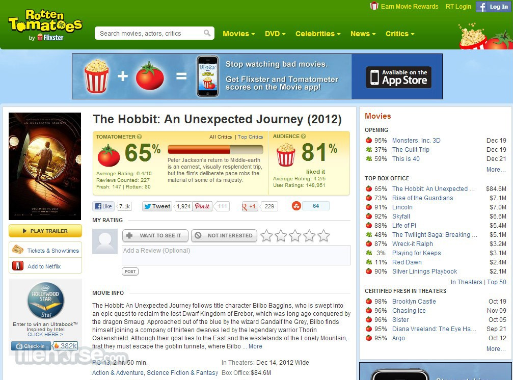 Rotten Tomatoes Screenshot 3