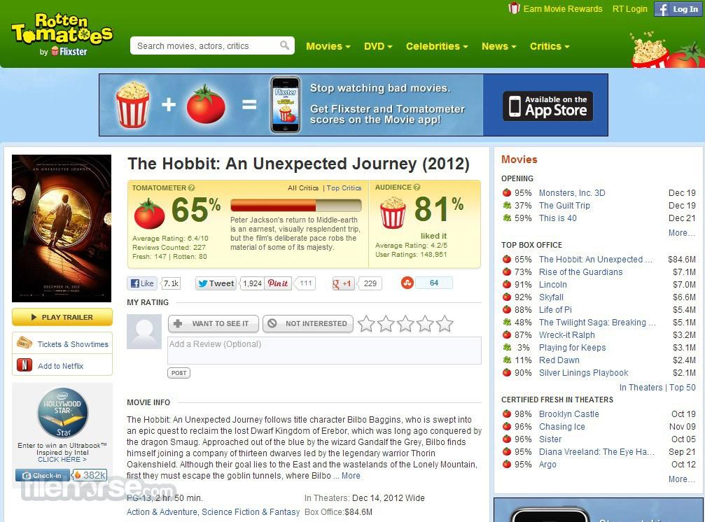 Rotten Tomatoes Screenshot 3