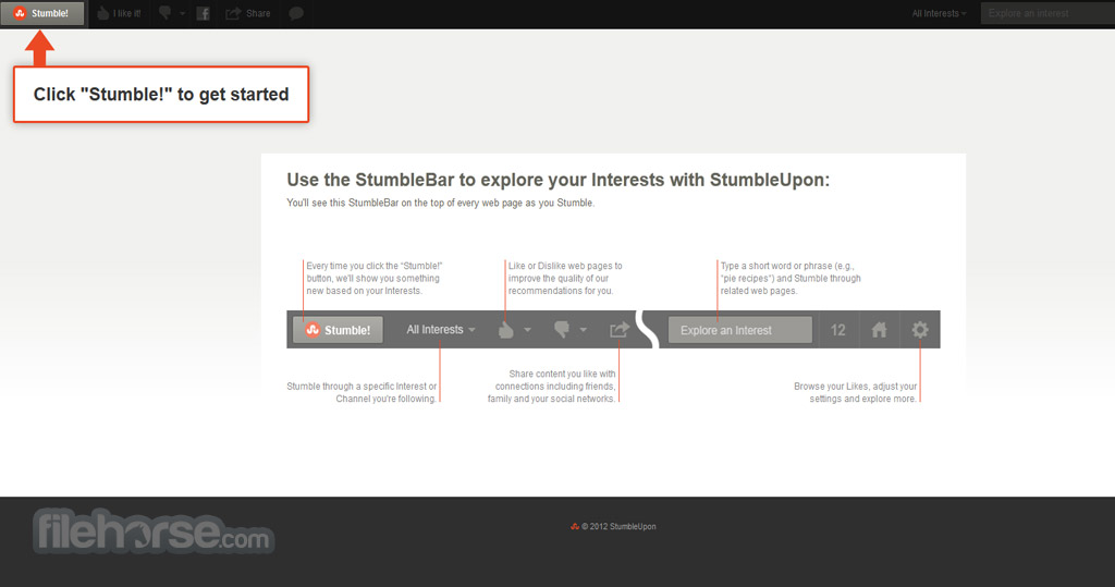 StumbleUpon Screenshot 1