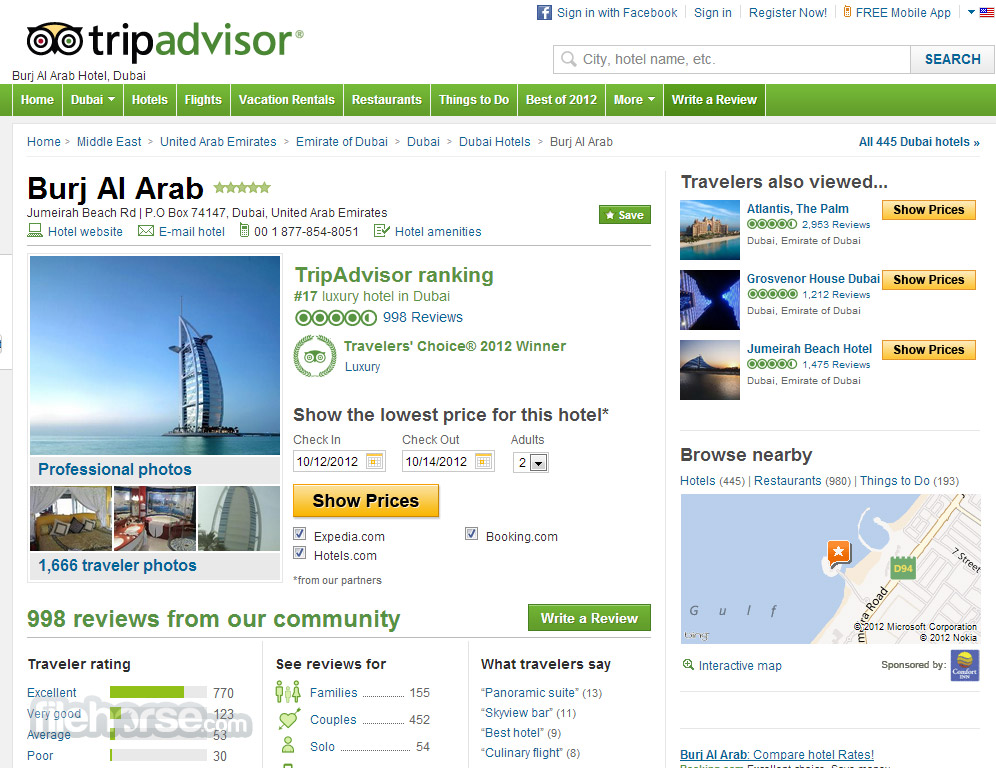 TripAdvisor Screenshot 1