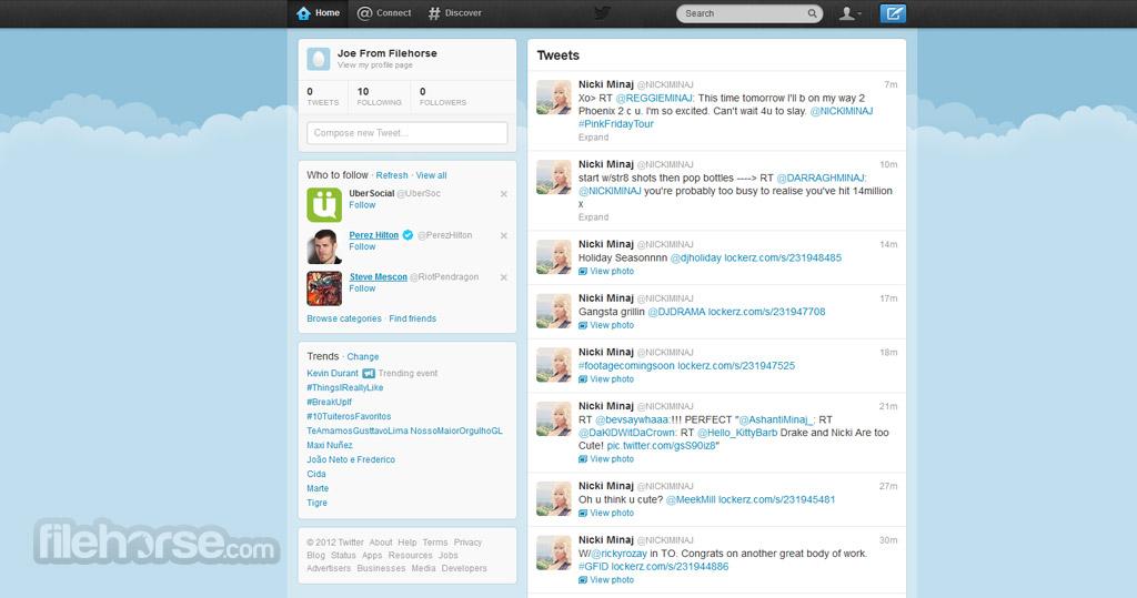 Twitter Captura de Pantalla 1