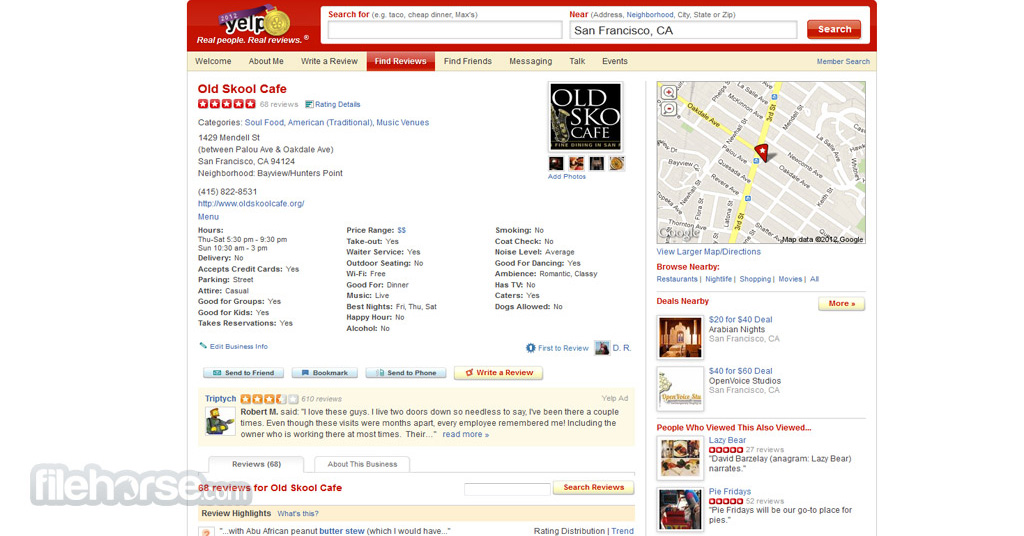 Yelp Screenshot 2