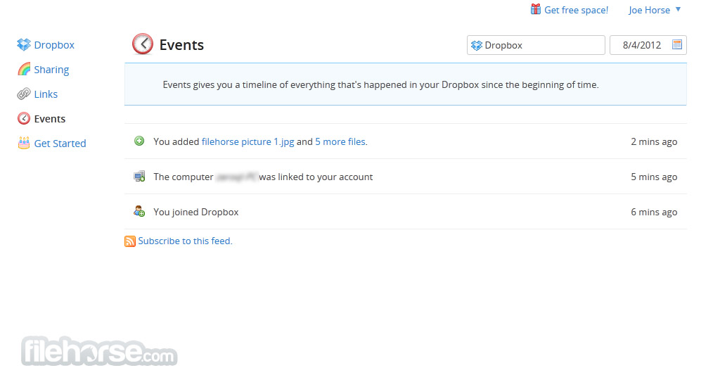 Dropbox Screenshot 3