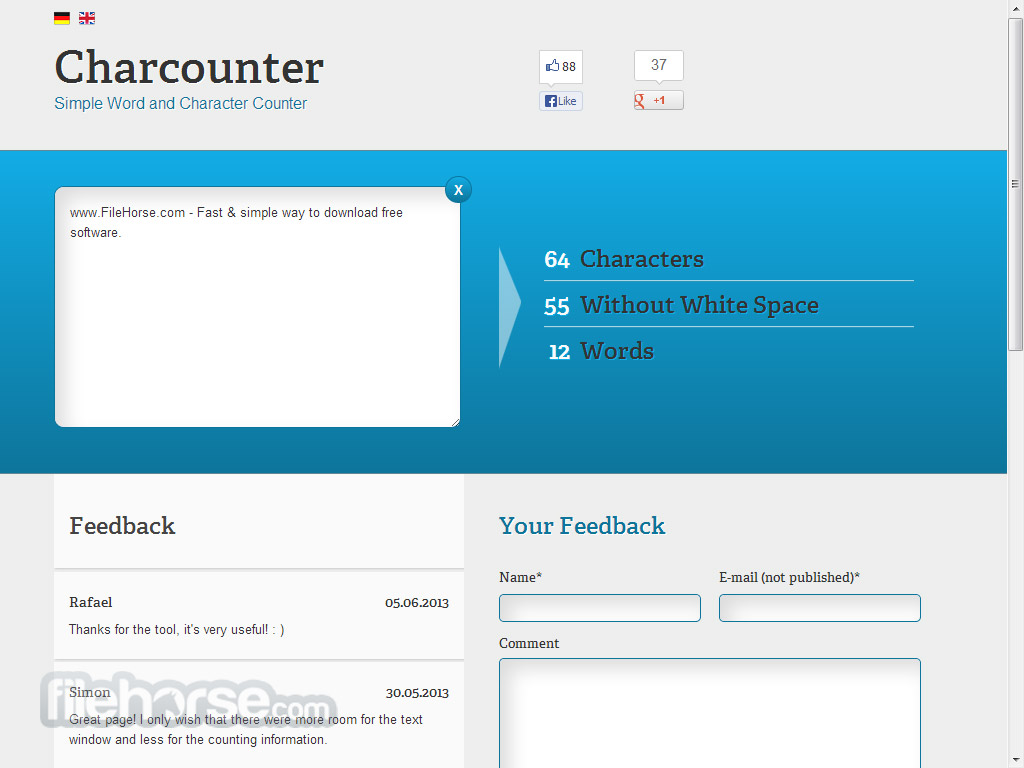Charcounter Screenshot 2