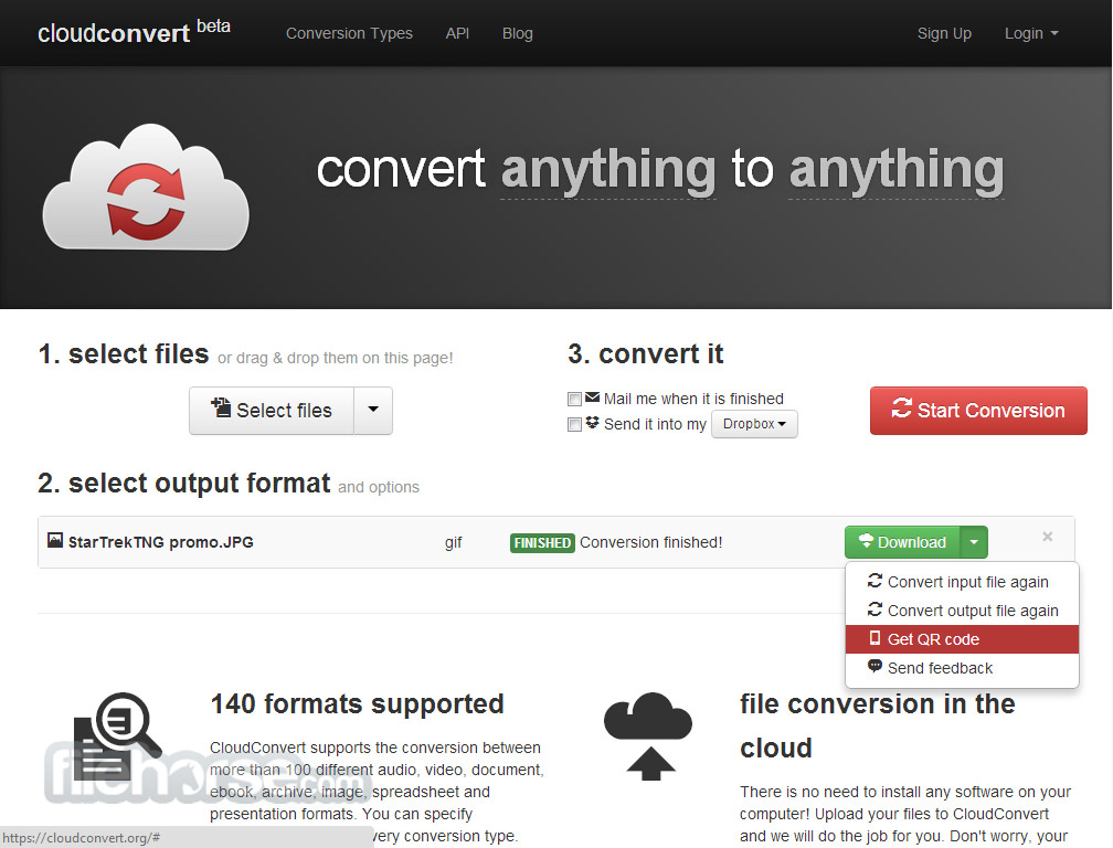 CloudConvert Captura de Pantalla 4