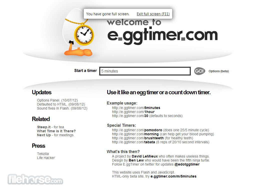 Egg Timer Screenshot 1