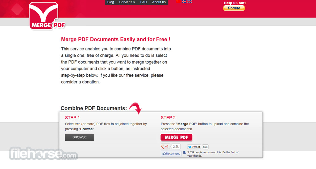 FoxyUtils MergePDF Screenshot 1