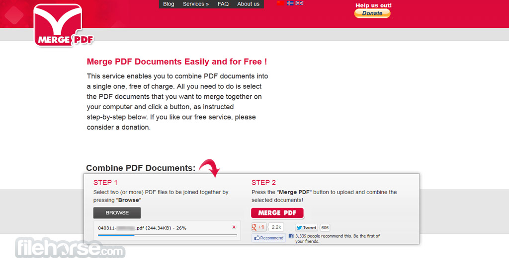 FoxyUtils MergePDF Screenshot 3