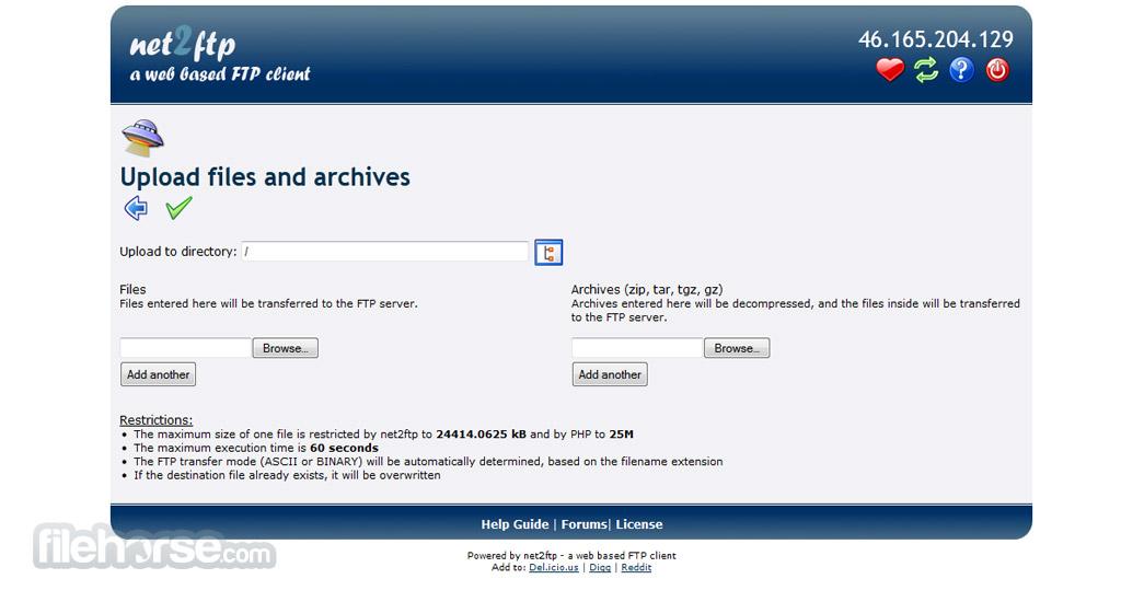 Net2ftp Screenshot 3