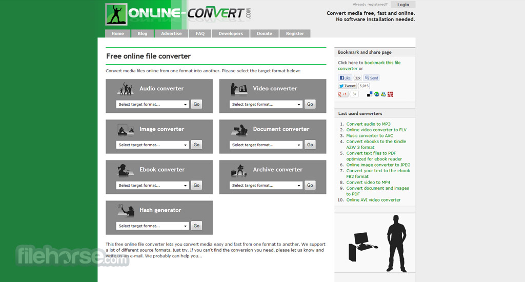 Online Convert Screenshot 1