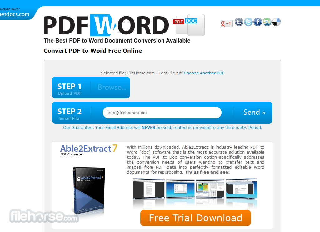 PDF to Word Screenshot 1