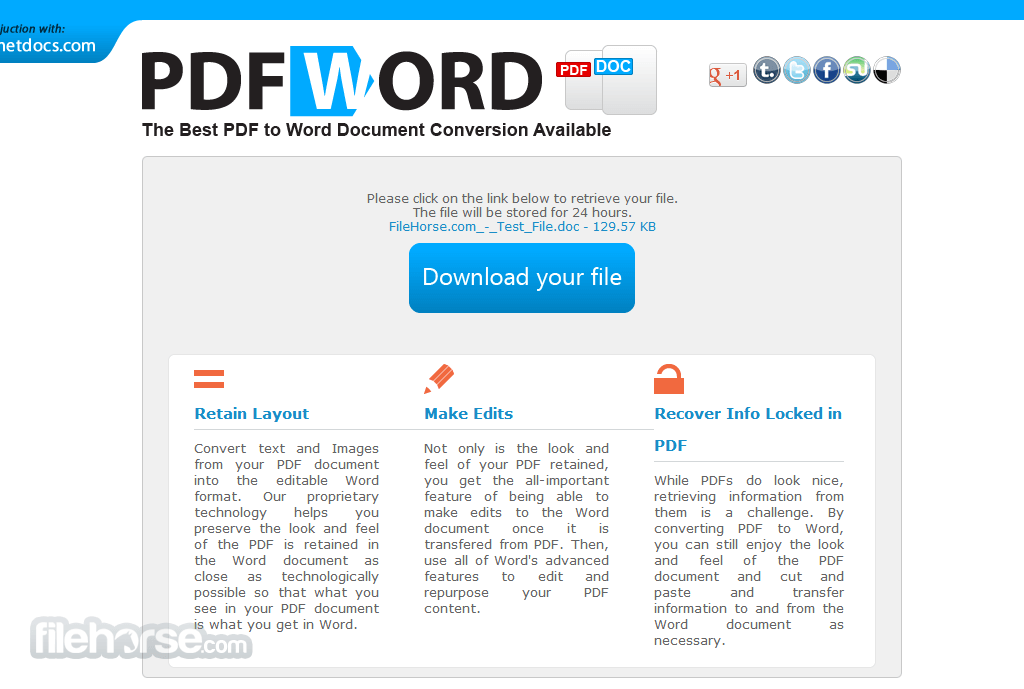 PDF to Word Screenshot 4