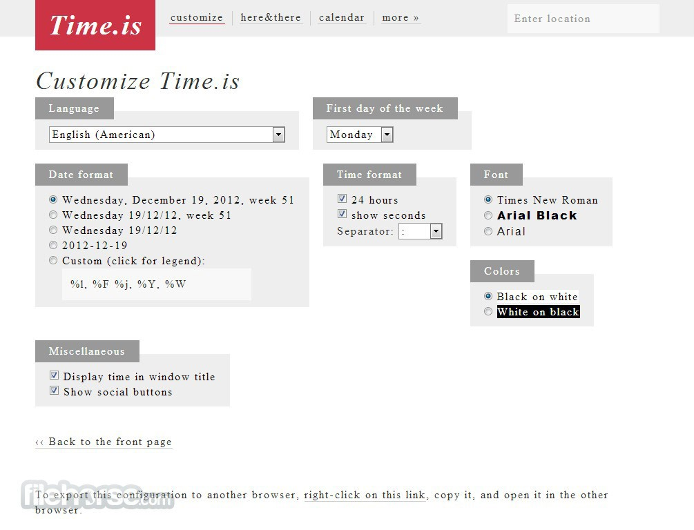 Time.is Captura de Pantalla 3