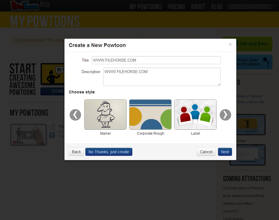 PowToon Screenshot 1