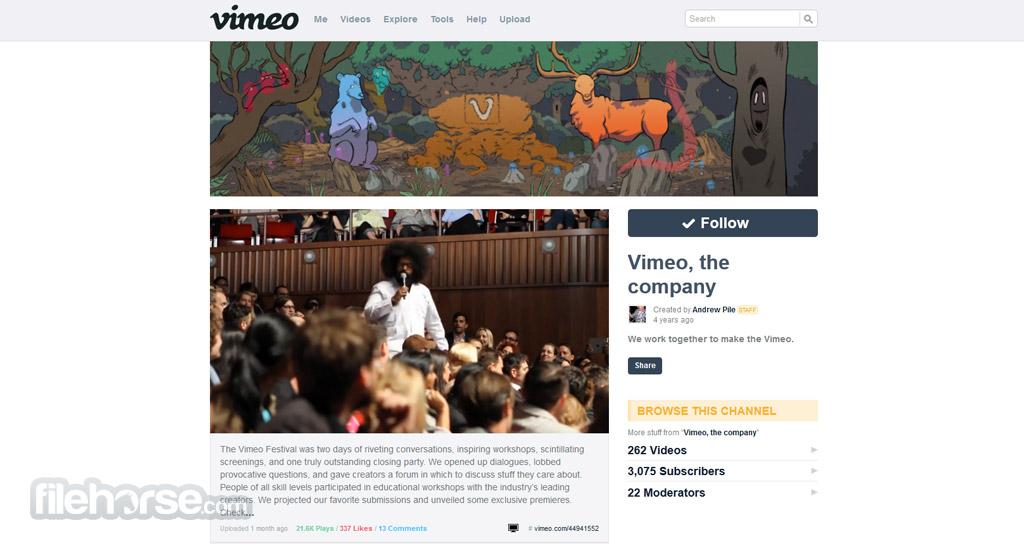 Vimeo Captura de Pantalla 2
