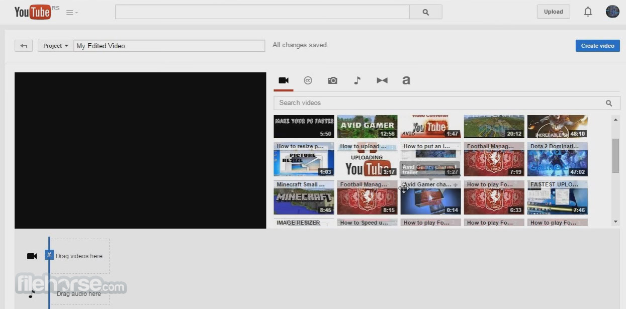 YouTube Video Editor Captura de Pantalla 1