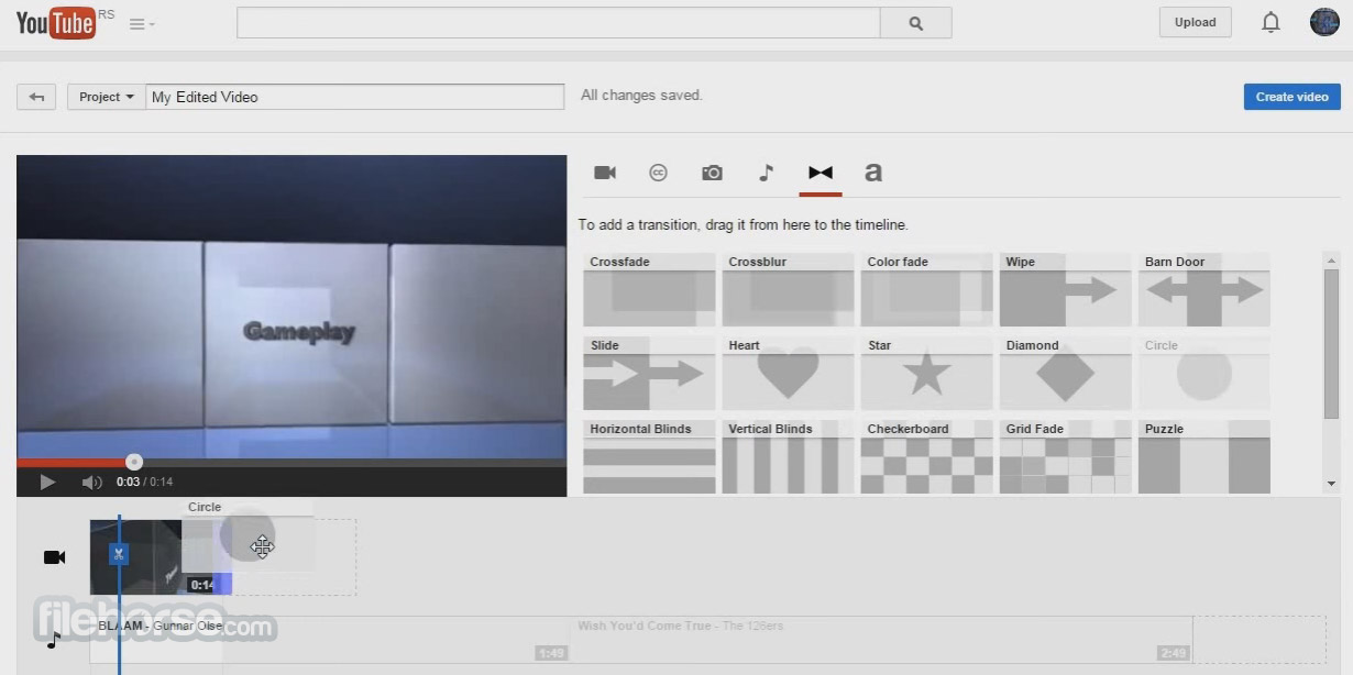 YouTube Video Editor Captura de Pantalla 4