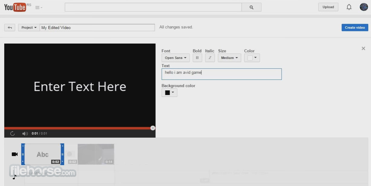 YouTube Video Editor Captura de Pantalla 5