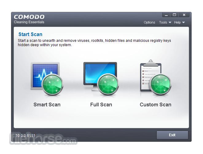 Comodo Cleaning Essentials 10.0.0.6111 (64-bit) Captura de Pantalla 1